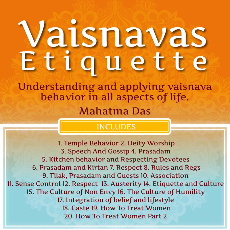 Vaishnava Etiquette Mahatma Das
